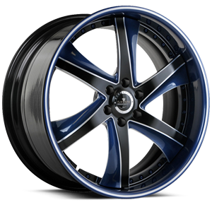 SV30-S Blue and Black with Brushed 6 lug