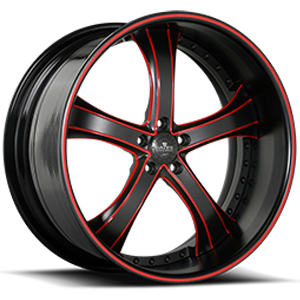 SV33-S Black and Red 5 lug