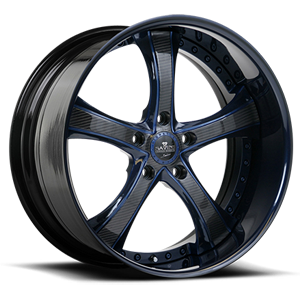 SV33-S Carbon and Blue 5 lug