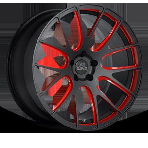 SV39-M Matte Black with Red 5 lug