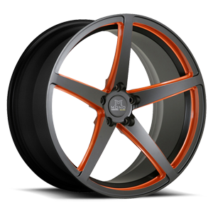 SV44-M Black and Orange 5 lug