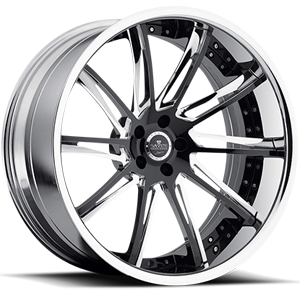 SV50-C Black and Chrome 5 lug