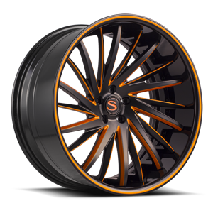 Savini Forged SV64-XC 5 Black and Orange with Black LIp