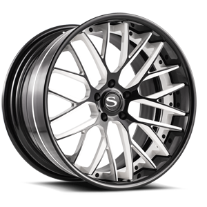 Savini Forged SV65-XC 5 Black and White with Black Lip