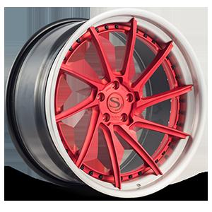 BM15-L Brushed Red 5 lug