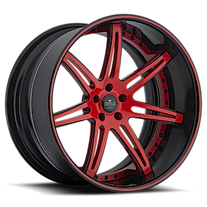 SV48-C Red with Black Lip 5 lug