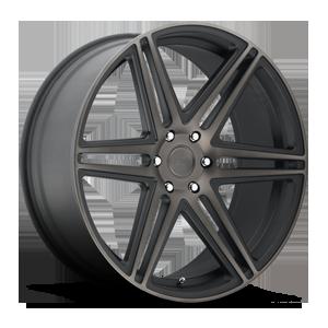 Skillz - S123 Black & Machined with Dark Tint 6 lug