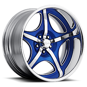 Smuggler Chrome with Blue Inserts 5 lug
