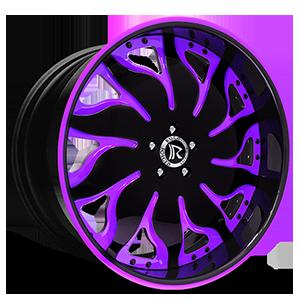 Solare Black and Purple 5 lug