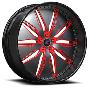 Solari Satin and Red with Carbon Lip 5 lug
