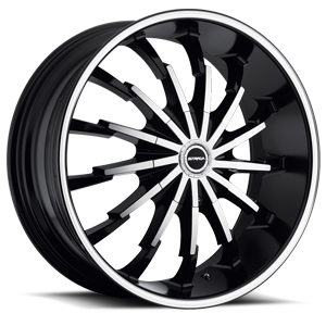Stiletto Black Machined Face 5 lug