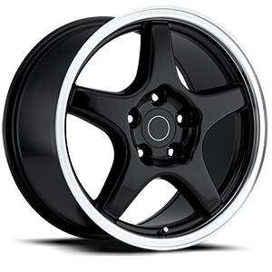 Style 21 Black with Machined Lip 5 lug