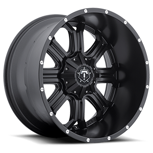 TIS Offroad 535 8 Satin Black with Milled Accents - 22x12