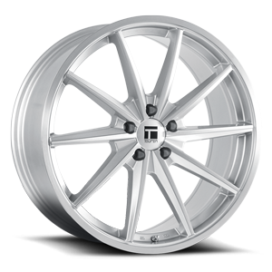 TF02 Brushed Silver Gloss 5 lug