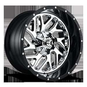 Fuel 2-Piece Wheels Triton - D211 5 Chrome Face w/ Gloss Black Lip