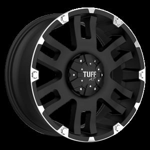 T-04 Flat Black w/ Machined Flange 5 lug