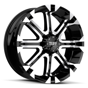 T-13 Flat Black w/ Machined Face & Flange 8 lug