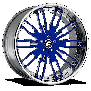 TAGLIO Blue/Chrome Center, Chrome Lip 6 lug
