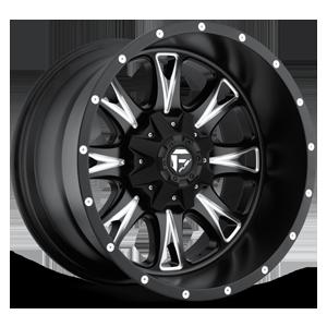 Fuel Deep Lip Wheels Throttle - D513 8 Matte Black & Milled