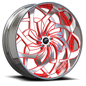 Turbo Brushed Red 5 lug