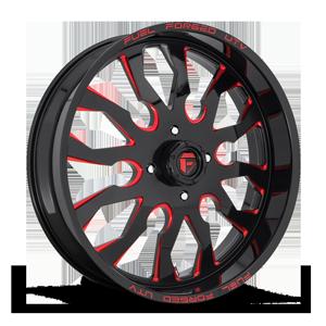 Fuel UTV Wheels FF37 - UTV 4 Gloss Black w/ Candy Red
