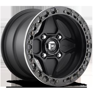 Fuel UTV Wheels Arrow - UTV 4 Matte Black w/ Gloss Black Beadlock