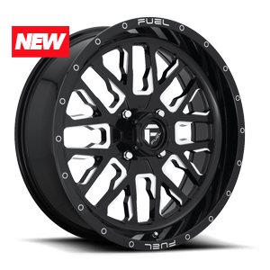 Stroke - D611 - UTV Gloss Black & Milled 4 lug