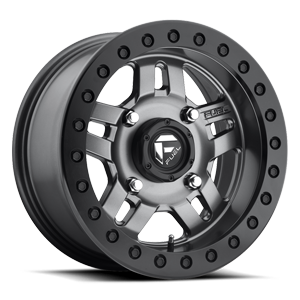 Fuel UTV Wheels Anza - D918 Beadlock 4 Matte Anthracite w/ Black Ring