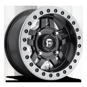 Fuel UTV Wheels Anza - D917 Beadlock 4 Matte Black w/ Anthracite Ring