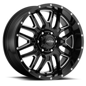 203 Hunter Gloss Black with Milled Accents and Clear Coat 6 lug
