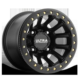 117 Xtreme UTV True Bead-Lock Satin Black and Satin Clear Coat - 15x10 4 lug