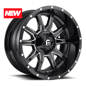 Vandal - D627 Gloss Black & Milled 5 lug