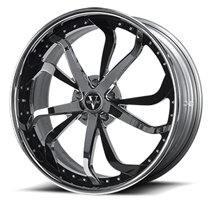 VCY Standard Brushed with Chrome Lip 6 lug
