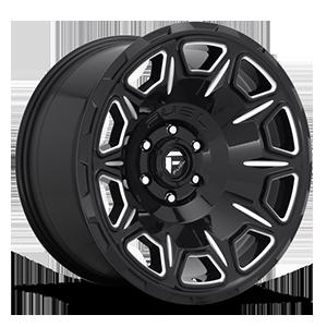 Vengeance - D688 Gloss Black & Milled 5 lug