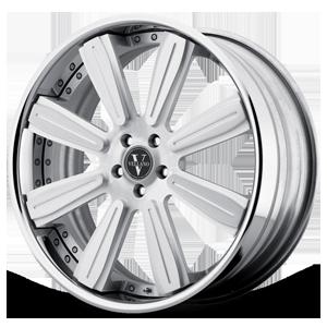 VKB concave Silver with Mirror Cut Lip 5 lug