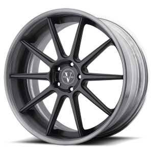 VKS concave Gray Face Machined Lip 5 lug