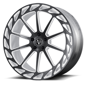 VM31 Gloss Black and White 6 lug
