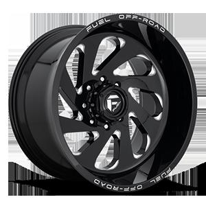 Vortex - D637 Gloss Black & Milled 8 lug