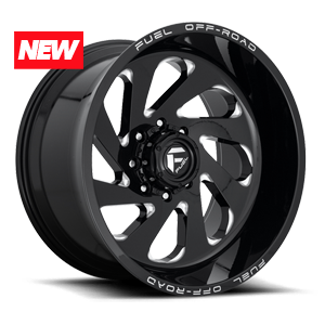 Vortex - D637 Gloss Black & Milled 8 lug