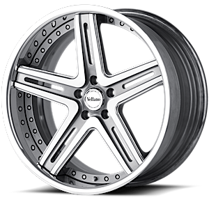 VRH concave Brushed Silver with Chrome Lip 5 lug