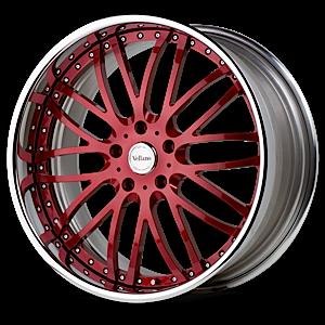 VSA Red with Chrome Lip 5 lug