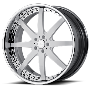 VSG White and Chrome 6 lug