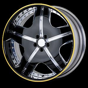VSR Polished Black 5 lug