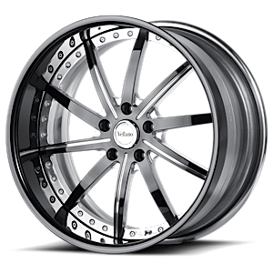 VSV Polished Black with Black Lip 5 lug
