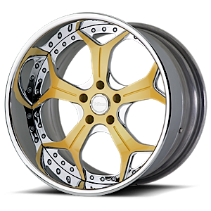 VSX Yellow and Chrome with Chrome Lip 5 lug