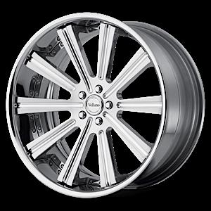 VTi concave Silver with Chrome Lip 6 lug