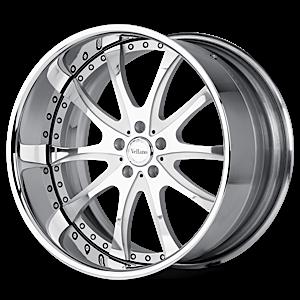 VTN Brushed Silver with Chrome Lip 6 lug