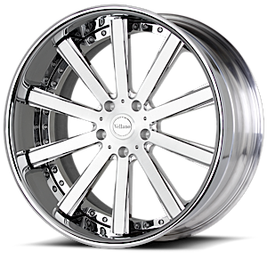 VTO concave Brushed Black with Chrome Lip 5 lug