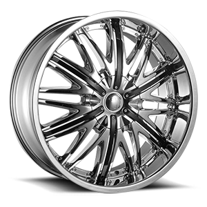 VW830 Chrome with Black Inserts 5 lug