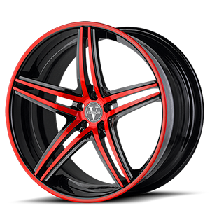 VKN concave Red 5 lug